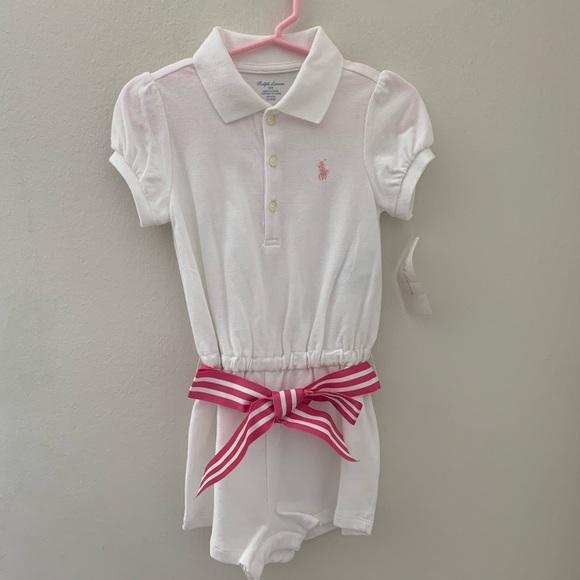 88659c9cb BNWT Ralph Lauren Baby Girls Polo Romper BNWT. NWT